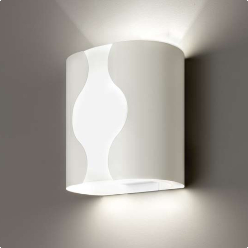 Modern White Wall Sconces : Zaneen Contemporary Wall Wall Sconce In White Made In Italy - D2-3062