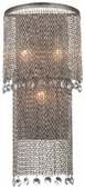 Metropolitan Lighting (N2273-578) Shimmering Falls 3 Light Wall Sconce shown in Antique Silver