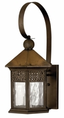 Hinkley Lighting (2995SN) Westwinds Large Outdoor Wall Sconce in Sienna with Clear Water Glass Panels