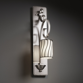 Justice Wall Sconces : Justice Design (WGL-8579) Victoria 1-Light Wall Sconce (Tall) from the Wire Glass Collection