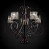 Justice Design (WGL-8570) Victoria 5-Uplight Chandelier from the Wire Glass Collection