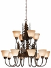 Vaxcel Lighitng (CH55612) Yellowstone 12 Light Chandelier