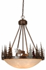 "Vaxcel Lighitng (PD55624) Yellowstone 24"" Bowl Pendant"
