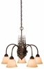 Vaxcel Lighitng (CH55605) Yellowstone 5 Light Chandelier