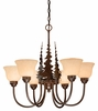 Vaxcel Lighitng (CH55656) Yellowstone 6 Light Chandelier