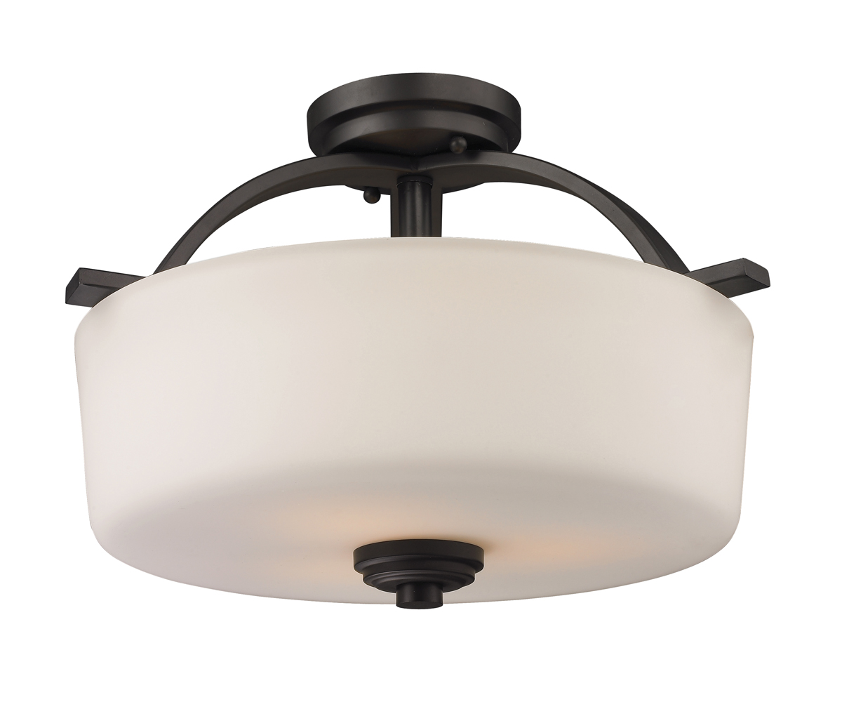 Z Lite Lighting 220sf Arlington 3 Light Semi Flush Mount