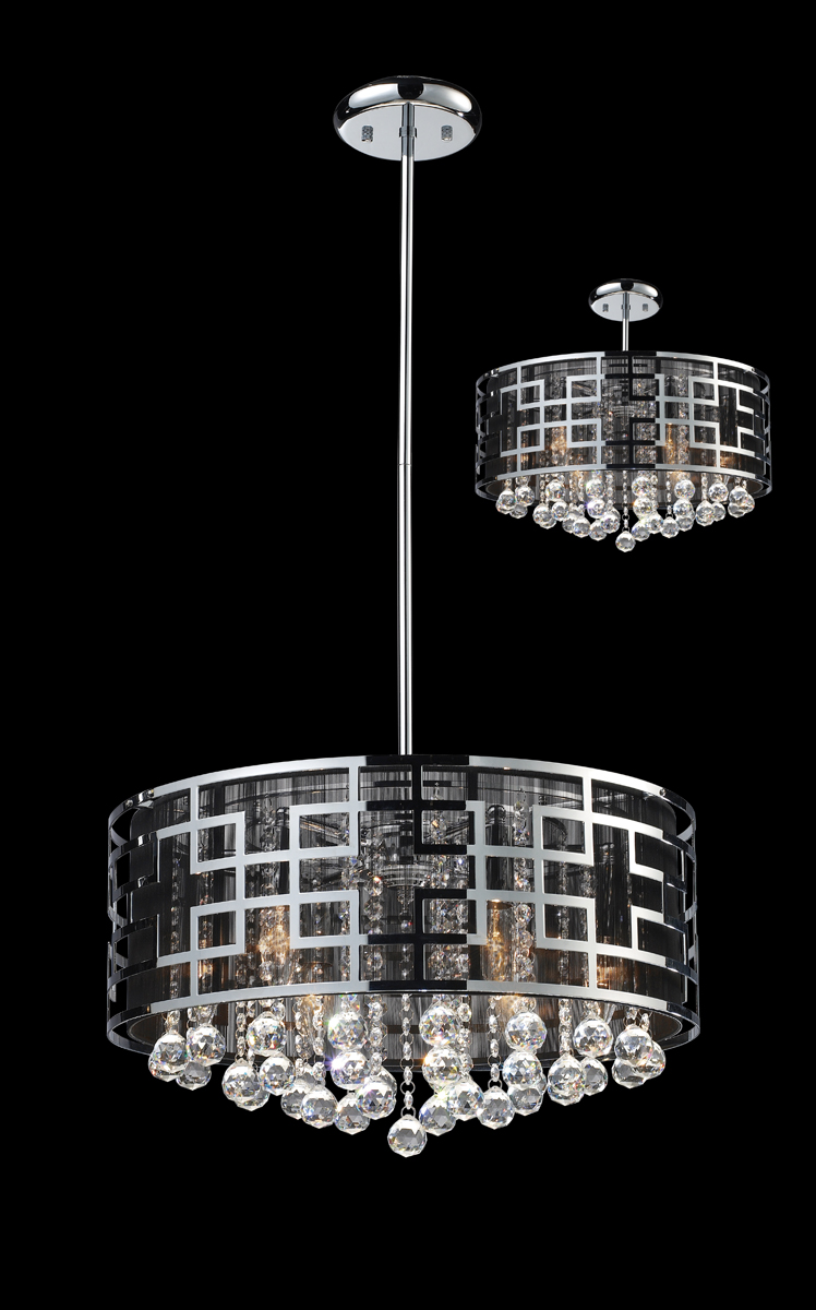 Mini Chandelier String Lights : Z-Lite Lighting (839CH) Mirach 6 Light Crystal Chandelier