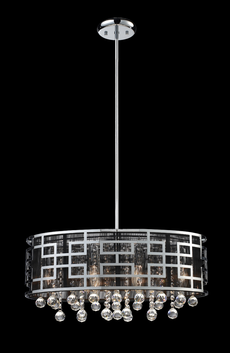 Mini Chandelier String Lights : Z-Lite Lighting (840CH) Mirach 6 Light Crystal Chandelier
