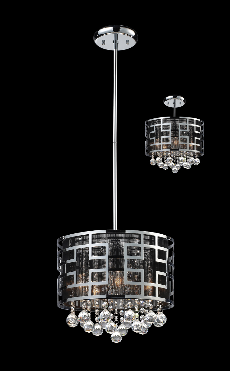 Mini Chandelier String Lights : Z-Lite Lighting (841CH) Mirach 6 Light Crystal Chandelier