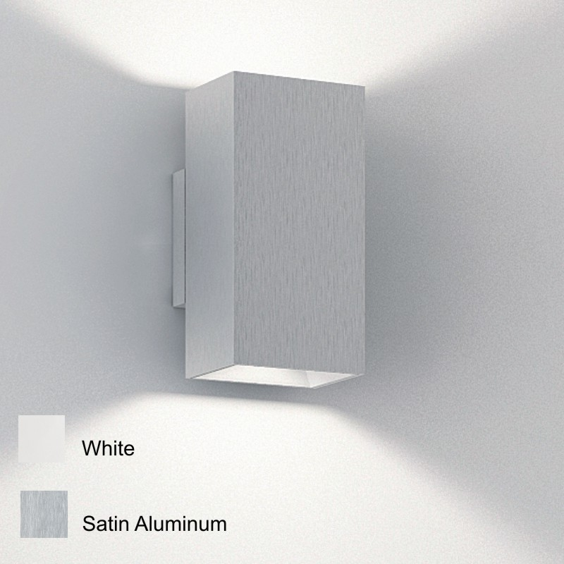 Wall Sconce With Up And Down Light : Zaneen Lighting (D9-3153) Tall Housing Up and Down Lights Architectural Wall Sconce in White ...