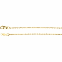 "18"" 14K gold fine rope chain"