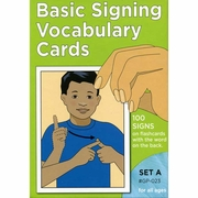 Basic Signing Vocabulary Cards Set A