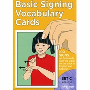 Basic Signing Vocabulary Cards Set C