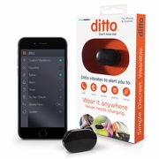 Ditto Black Bluetooth Vibrating Cell Phone Signaler and Alarm Clip