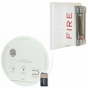 Gentex GN-503FF Hard Wired T3 Smoke/T4 Carbon Monoxide Photoelectric Alarm with Wall Strobe