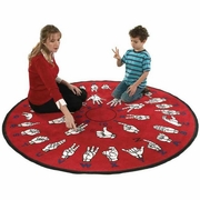 Hands That Teach Educational Sign Language Floor Rug