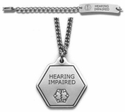 Hearing Impaired Medical Alert Jewelry