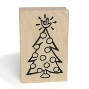 ILY Christmas Tree Stamp