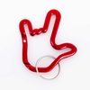 ILY Handshape Red Alloy Carabiner