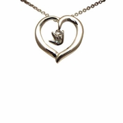 ILY Open Heart Silver Necklace