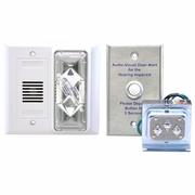 Loud Alarm/Strobe Doorbell Signaler with Button and Transformer