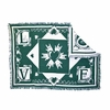 Love Hunter Green Cotton Throw