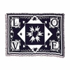 Love Navy Cotton Throw