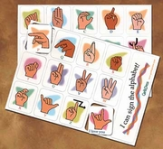 Magnetic  Finger Sign Language Alphabet