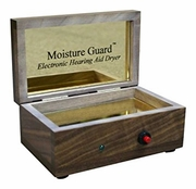 Moisture Guard Walnut Electronic Hearing Aid Dryer