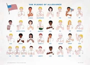 Pledge of Allegiance 24 x 17 Signed English Poster