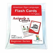 Sign2Me ASL Flash Cards: Animals & Colors