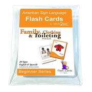 Sign2Me ASL Flash Cards: Family  Clothing & Toileting