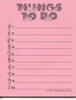 Things To Do Sign Language Notepad