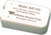 Williams Sound 9V Rechargeable NiMH Battery