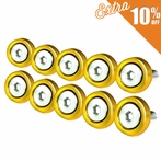10PC Golded Aluminum Washer/Bolt Dress Up Kit