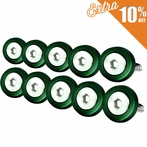 10PC Green Aluminum Washer/Bolt Dress Up Kit