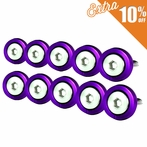 10PC Purple Aluminum Washer/Bolt Dress Up Kit