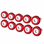 10PC Red Aluminum Washer/Bolt Dress Up Kit