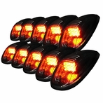 10PC Set Roof Cab LED Lights - Smoke