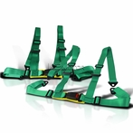 2PC 4Pt Camlock Racing Seat Belt Harness (Green)