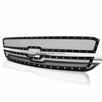 2PC Black Rivet Style Front Grille Insert