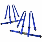 2X 4 Point Racing Seat Belt Harness (Blue)