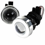 "3"" White SMD Halo Rim Projector Fog Lights Kit"