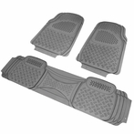 3PC Grey 3D Print Floor Mats