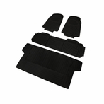 4PC Black 3D Print Floor Mats