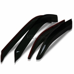 4PC Smoked Window Visors