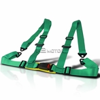4Pt Camlock Racing Seat Belt Harness (Green)