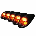 5PC Set Roof Cab LED Lights - Smoke