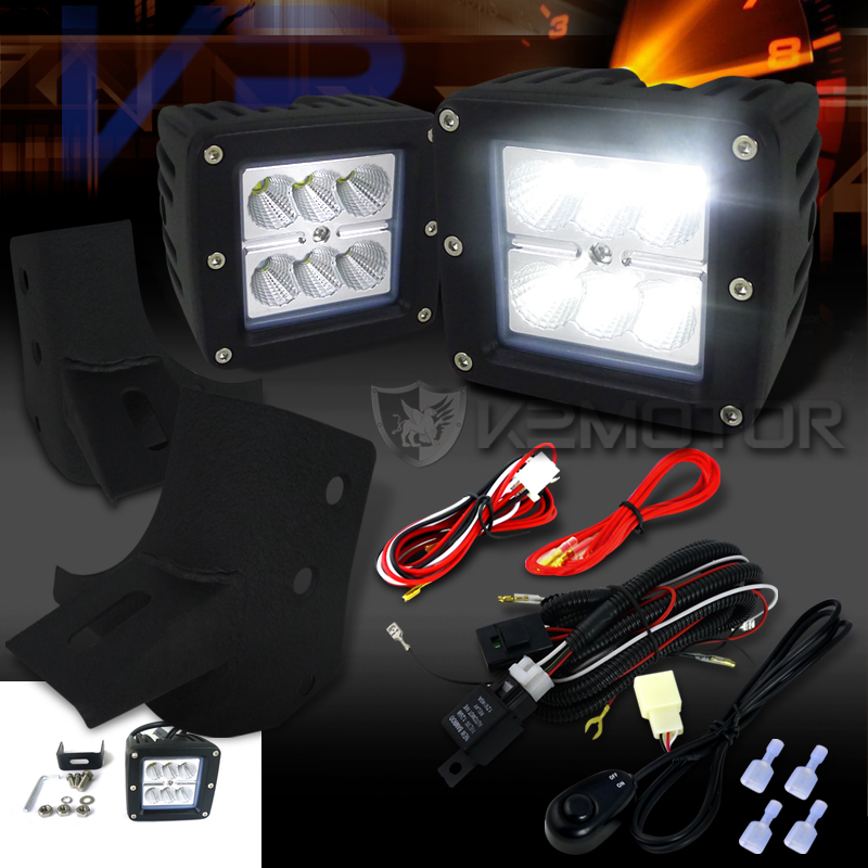 1997-2006 Jeep Wrangler TJ Cube Flood Beam Off-Road Fog ... on jeep wrangler dash lights, jeep wrangler bumper fog lights, jeep wrangler light kits, toyota tundra fog light wiring, jeep wrangler hid fog lights, jeep wrangler interior lights, chevy colorado fog light wiring, jeep wrangler led conversion, chrysler 300 fog light wiring, jeep cj7 engine wiring harness, jeep wrangler back up lights, jeep wrangler oem fog lights, jeep wrangler check engine light, mini cooper fog light wiring, jeep led grill lights, dodge ram 1500 fog light wiring, jeep wrangler alarm, jeep wrangler fog lights install, jeep wrangler led fog lights, ford ranger fog light wiring,
