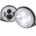 7� Round LED Chrome Projector Headlights